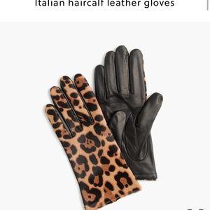 COPY - J crew Italian hair calf leather gloves